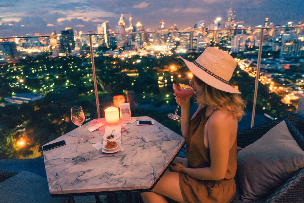 Rooftop bar, Bangkok, Thailand.