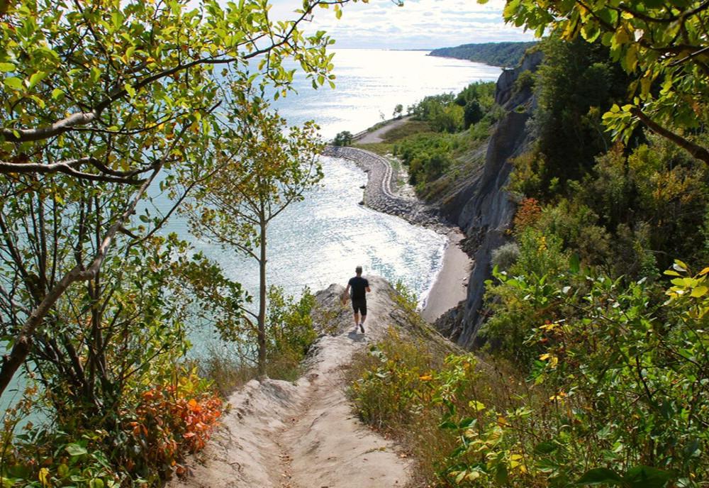 Scarborough Bluffs, Toronto, Ontario, Canada.