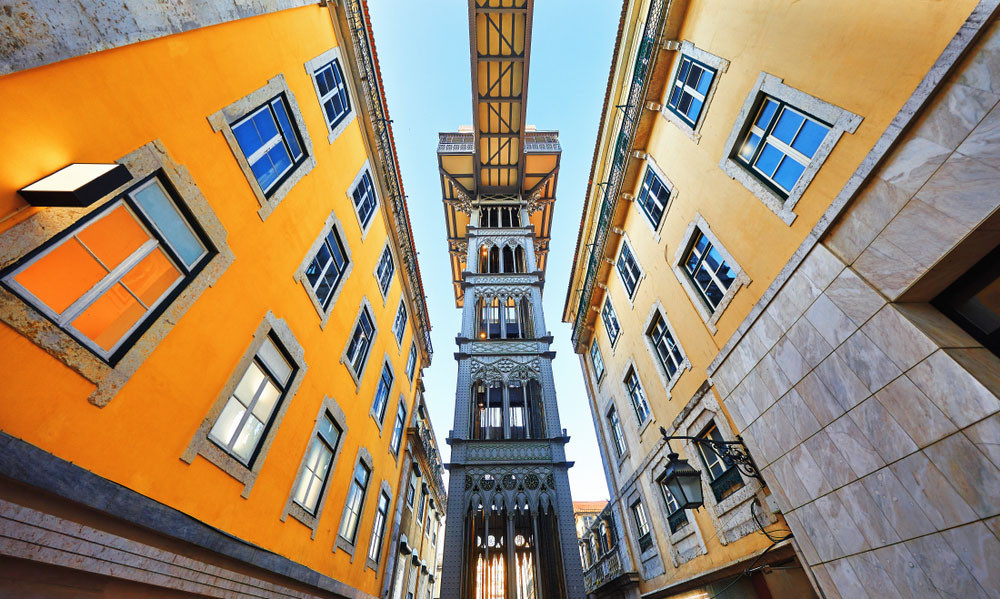 Santa Justa Lift, Lisbon, Portugal.