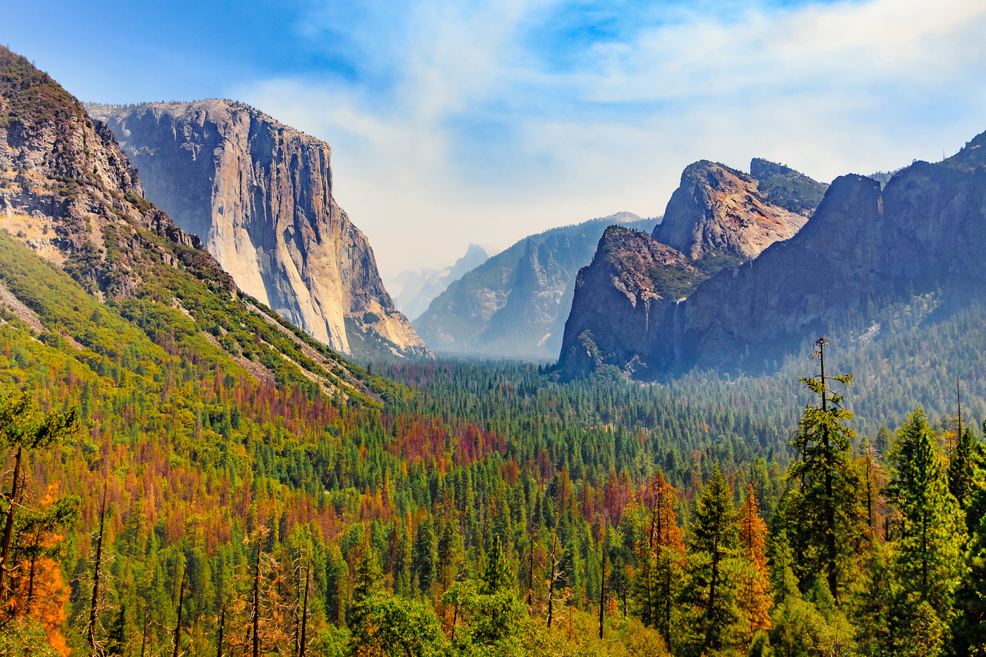 Tunnel View, View