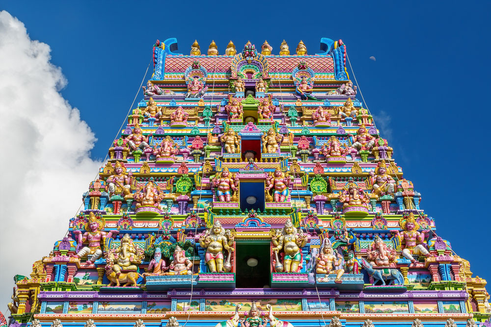 Arul Mihu Navasakthi Vinayagar Temple, Victoria, Mahé, Seychelles.