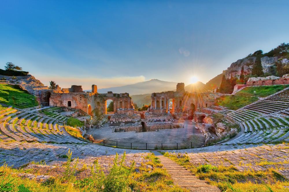 Teatro Greco, Teormina, Italy.