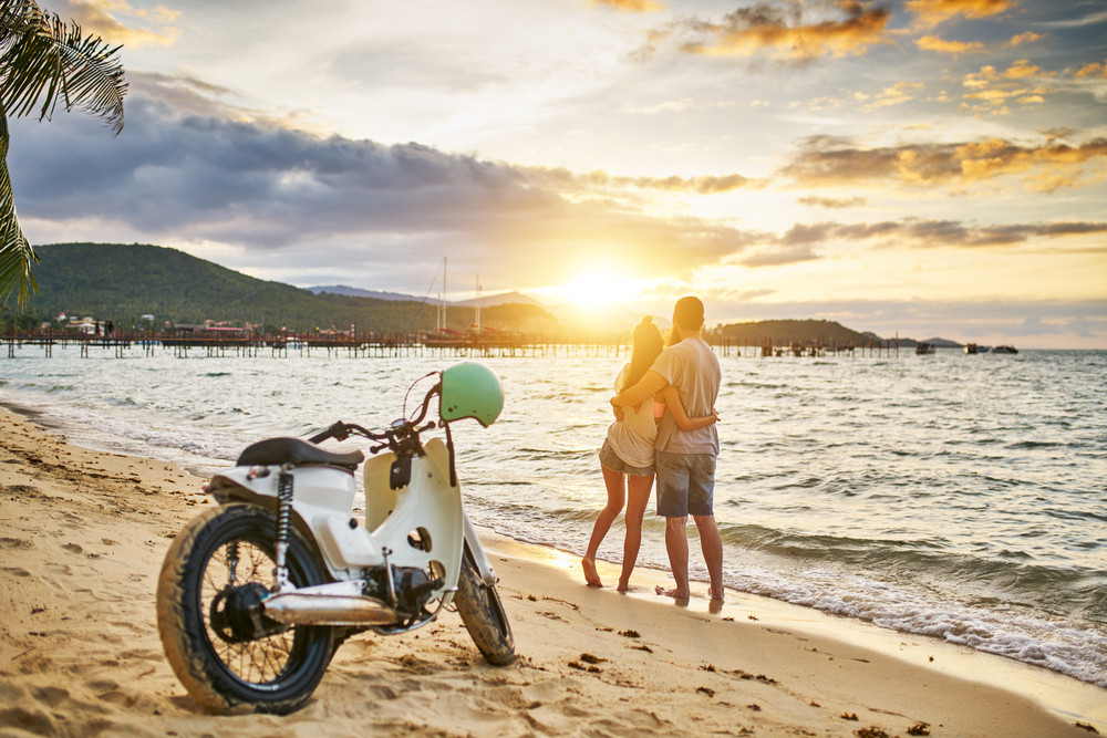 Scooter rental in Thailand.