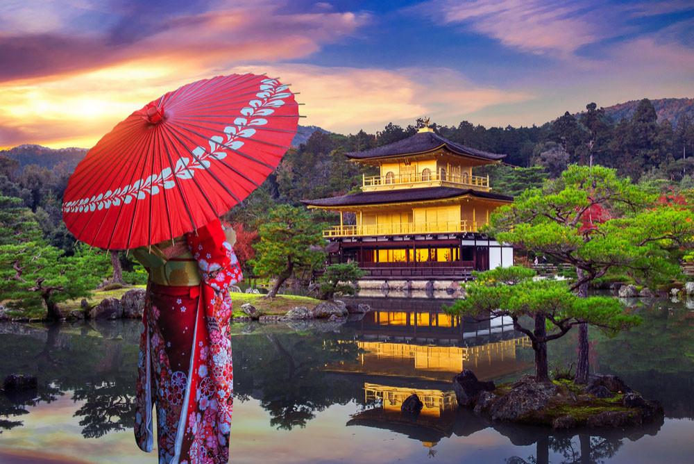 Kinkaku-ji Temple, Kyoto, Japan.