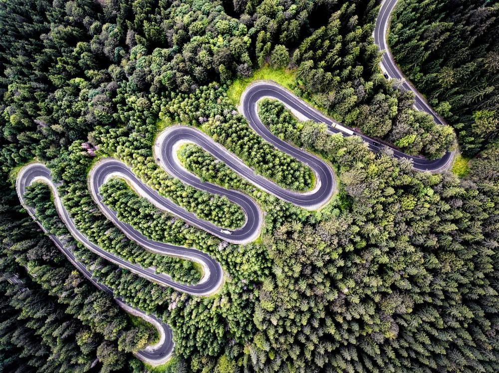 The Transfagarasan Highway, Transylvania, Romania.