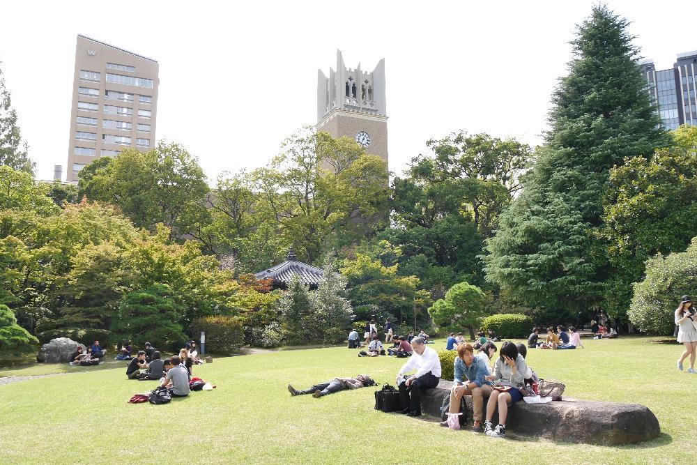 Waseda University Campus, Tokyo, Japan.