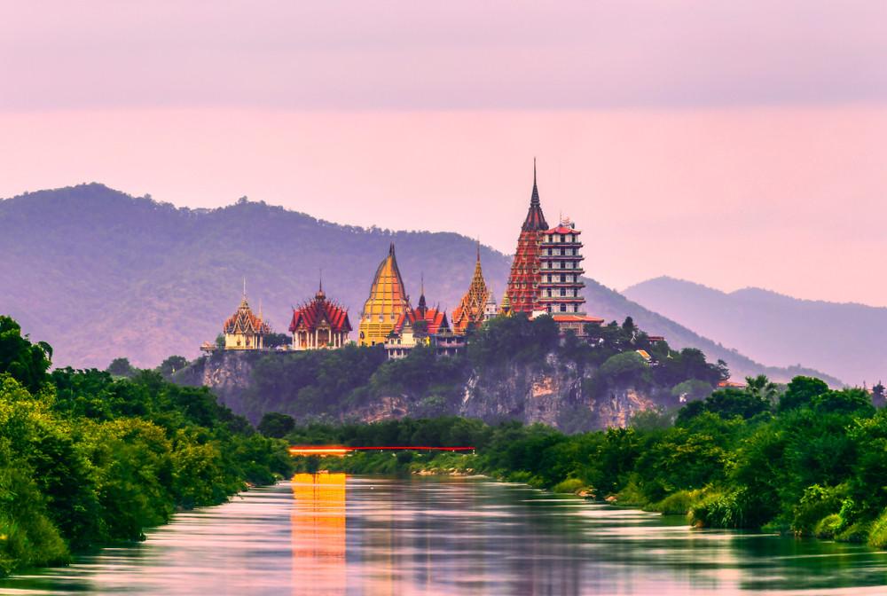 Tiger Cave Temple (Wat Tham Sua), Kanchanaburi Province, Thailand.