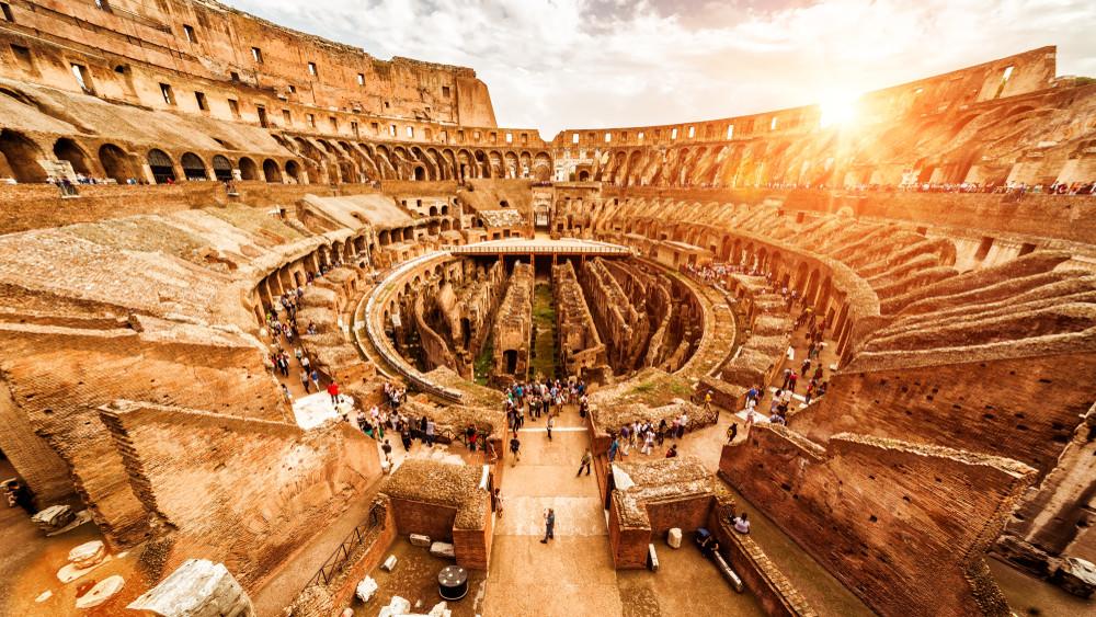 Inside the Ancient Colosseum, Rome, Italy. Viacheslav Lopatin / Shutterstock.com
