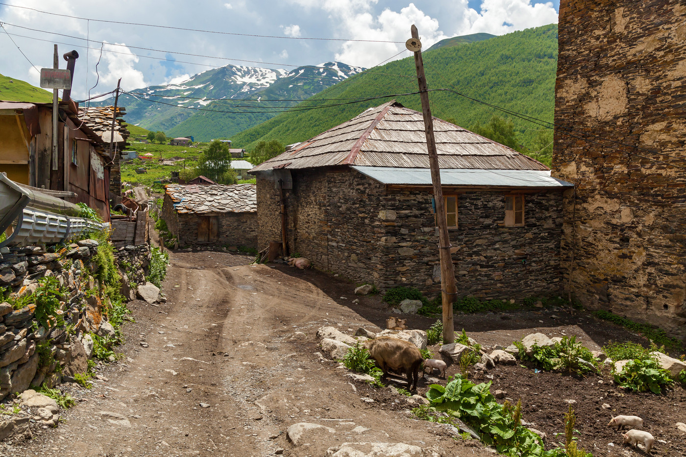 Village Ushguli. Svaneti, Georgia