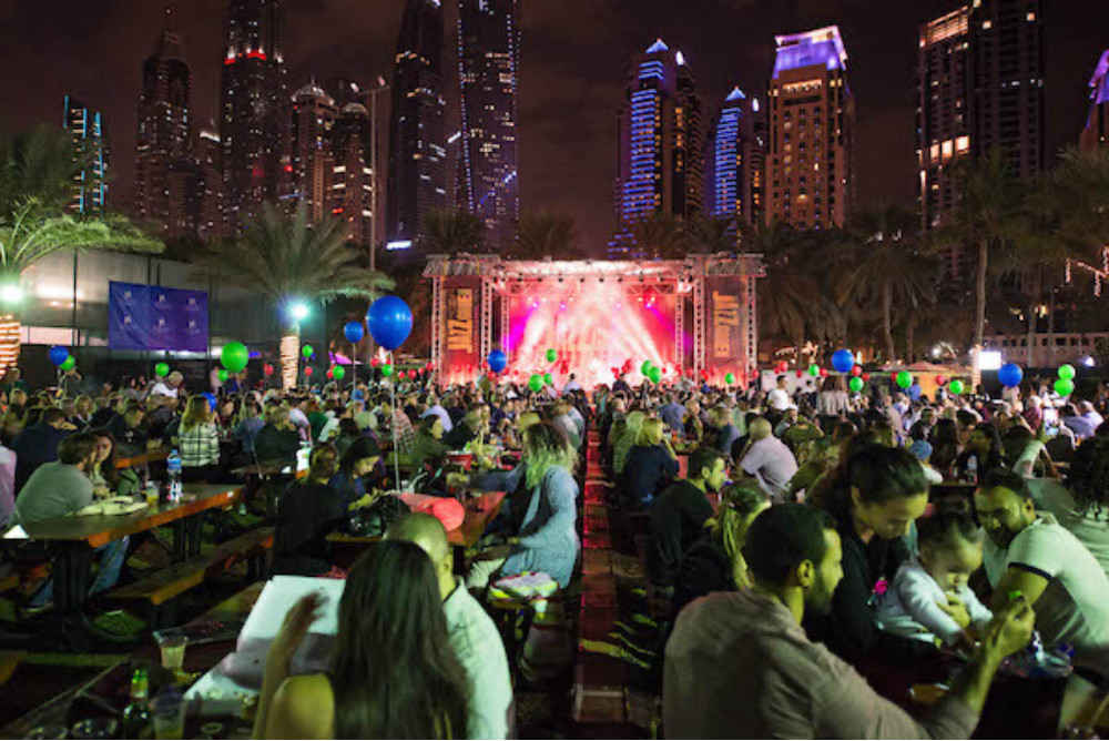 The Jazz Garden Dubai, Dubai, UAE. Credit: @thejazzgardendubai