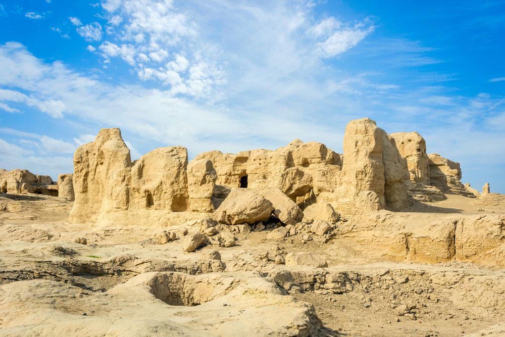 Jiaohe Ancient Ruins, Turpan, China.