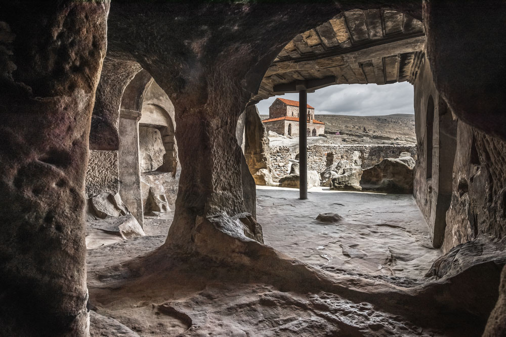Intricate interior caves, Uplistsikhe, Georgia.