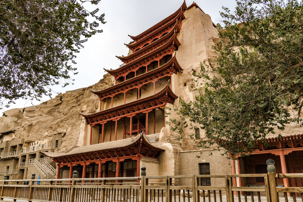 Mogao Caves complex, Dunhuang, China.