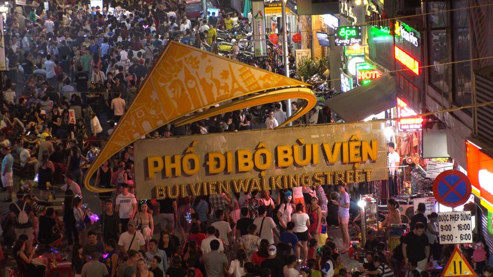 Bui Vien Street, Ho Chi Minh city, Vietnam.