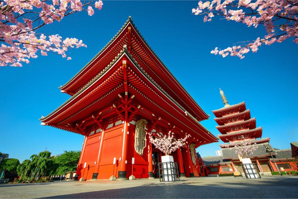 Sensoji-ji Temple, Asakusa district, Tokyo, Japan.