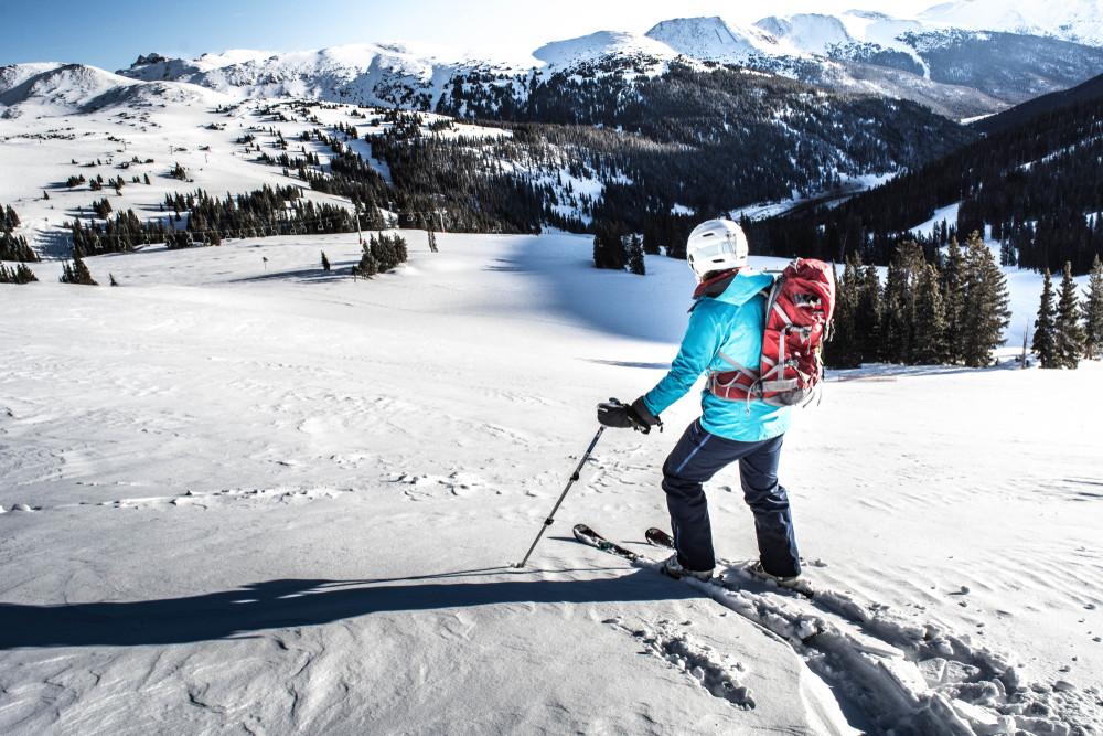 Back country skiing, Colorado