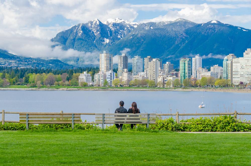 Kitsilano Beach Park, Vancouver, British Columbia, Canada.