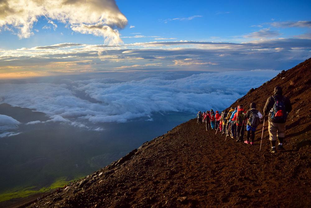 Views from the climb, Mt Fuji, Japan.