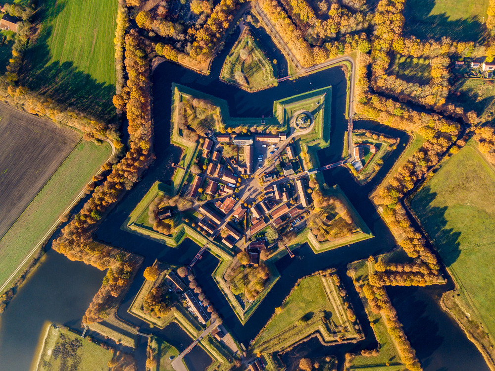 Fort Bourtange, Bourtange,Groningen,Netherlands.