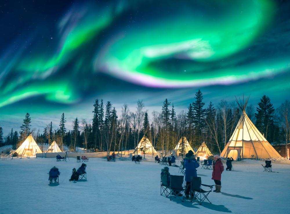 Yellowknife, Northwest Territories, Canada. Ken Phung/Shutterstock.com