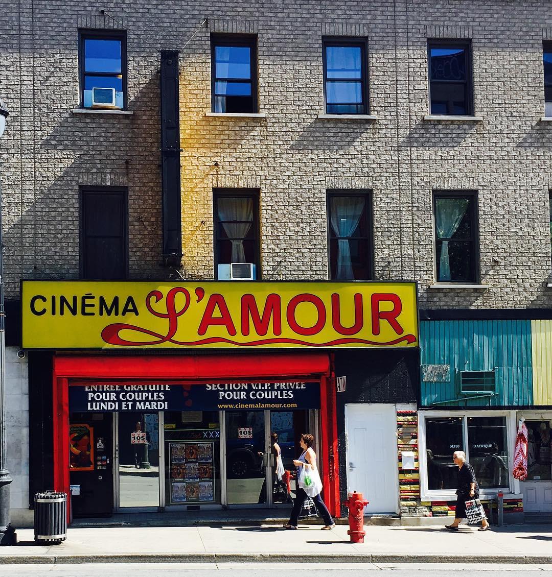 Cinema L'Amour, Montréal, Quebec, Canada. instagram.com/thierrygrouleaud