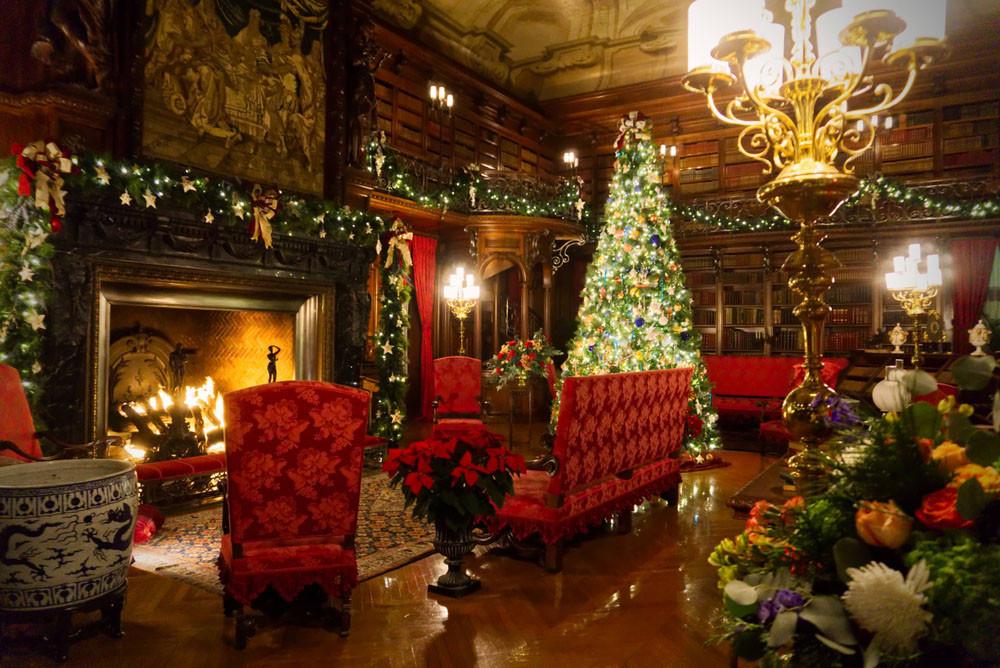 The Biltmore interior, decorated for Christmas, Asheville, North Carolina. Delaney Juarez / Shutterstock.com