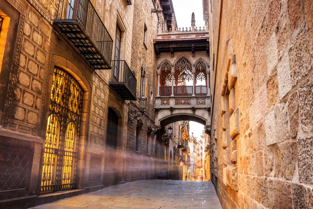 Gothic Quarter, Barcelona, Spain.