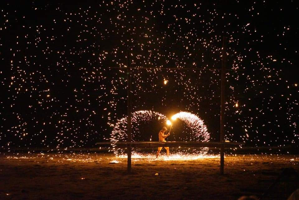 Fire show, Why Not Bar, Koh Lanta, Thailand. Credit: Why Not Bar