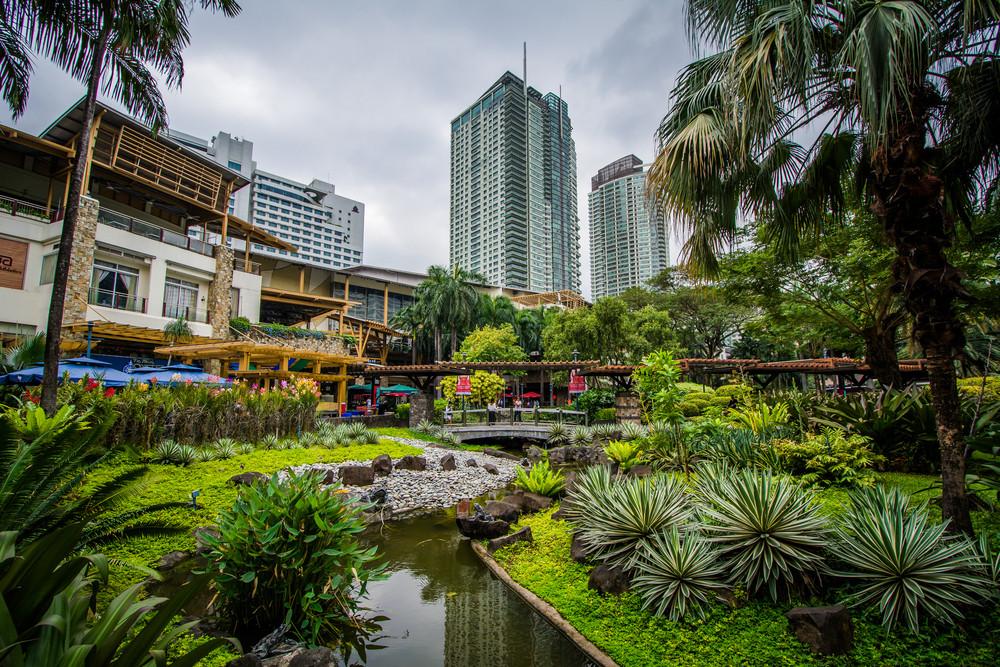 Greenbelt Park, in Ayala, Makati, Metro Manila, Philippines.