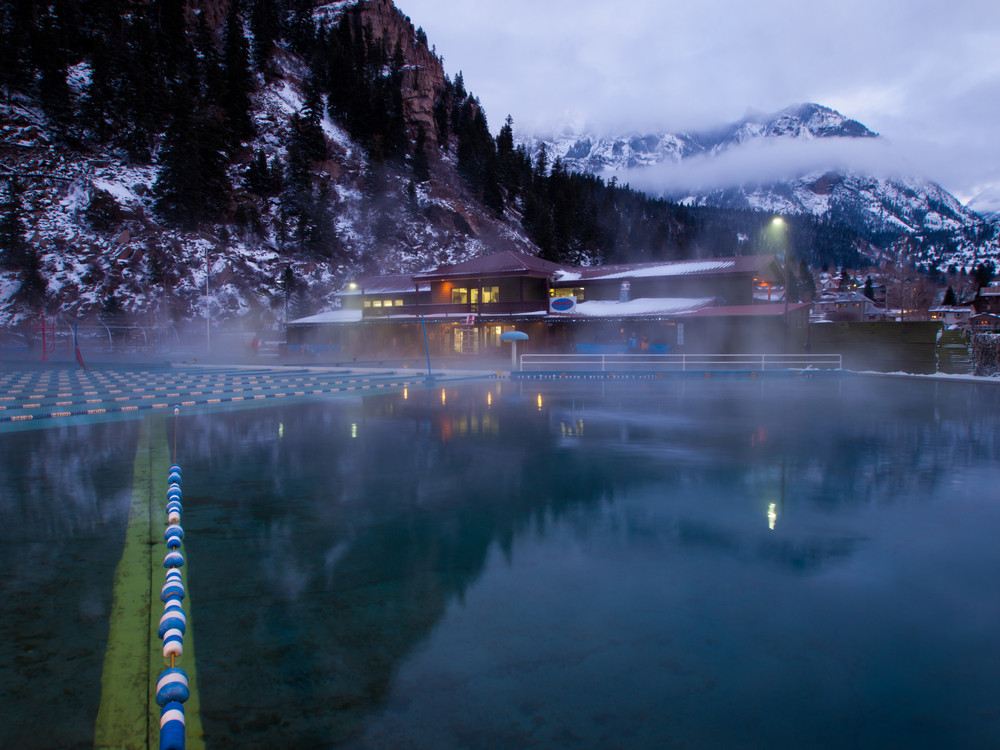 Ouray Hot Springs Pool, Ouray, Colorado. Arina P Habich / Shutterstock.com