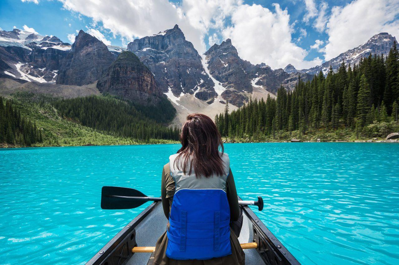 Moraine Lake, Banff National Park, Canadian Rockies, Alberta, Canada