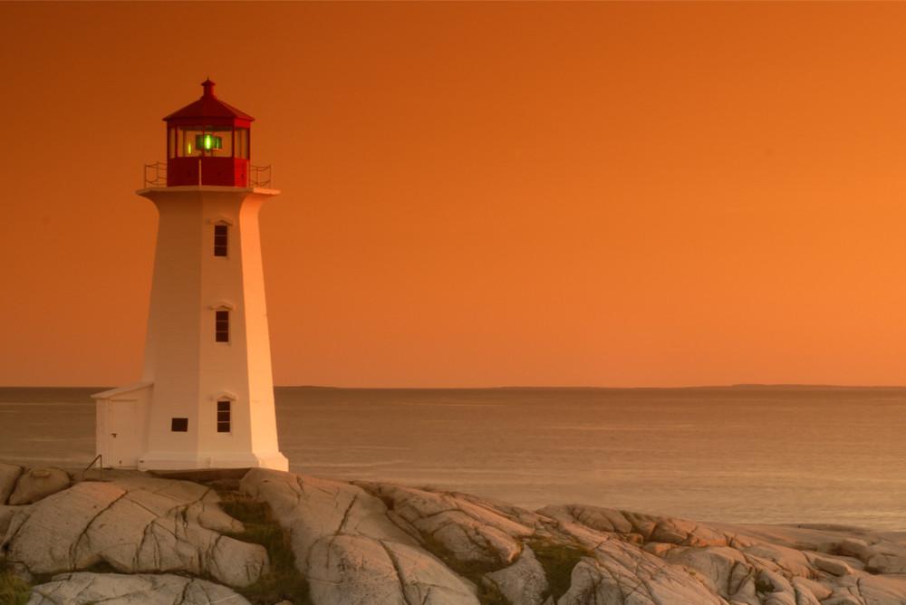 Lighthouse at Peggy's Cove, Nova Scotia, Canada.