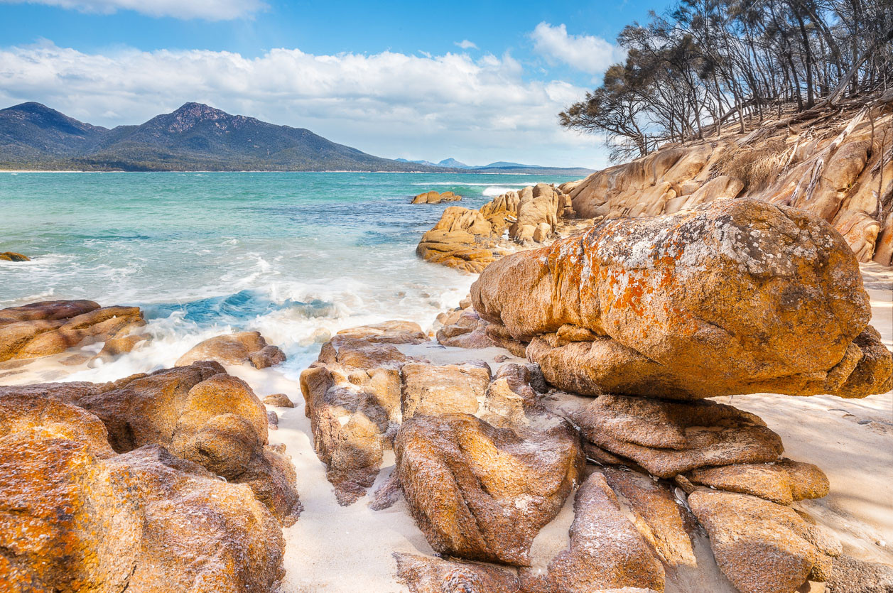 Wineglass Bay, Freycinet National Park, Tasmania Australia.