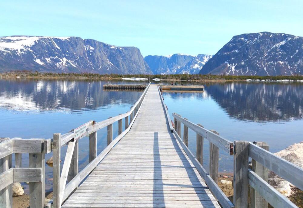 Western Brook Pond, Gros Morne National Park, Newfoundland and Labrador, Canada.